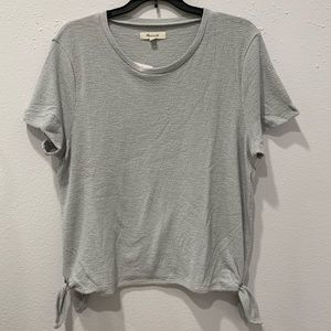 Madewell side tie short sleeve top